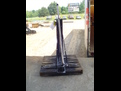 Loader backhoe bucket forks make by USA Attachments.