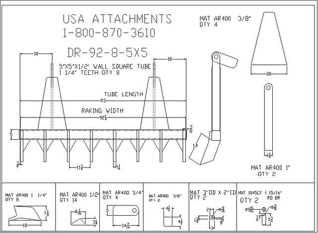 benne di varie tipologie forche bilancini ed a ltri attrezzi di uso comune  Dr-92-8-5x5-5