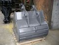 "42"" excavator bucket for excavators 33,000 - 40,000 lbs shown from behind."