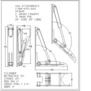 "HT1845 Hydraulic Excavator Thumb Line Drawing: 1"" AR400 FINGERS, 3\"" MAIN PIN, 18\"" WIDE 45\"" LONG."