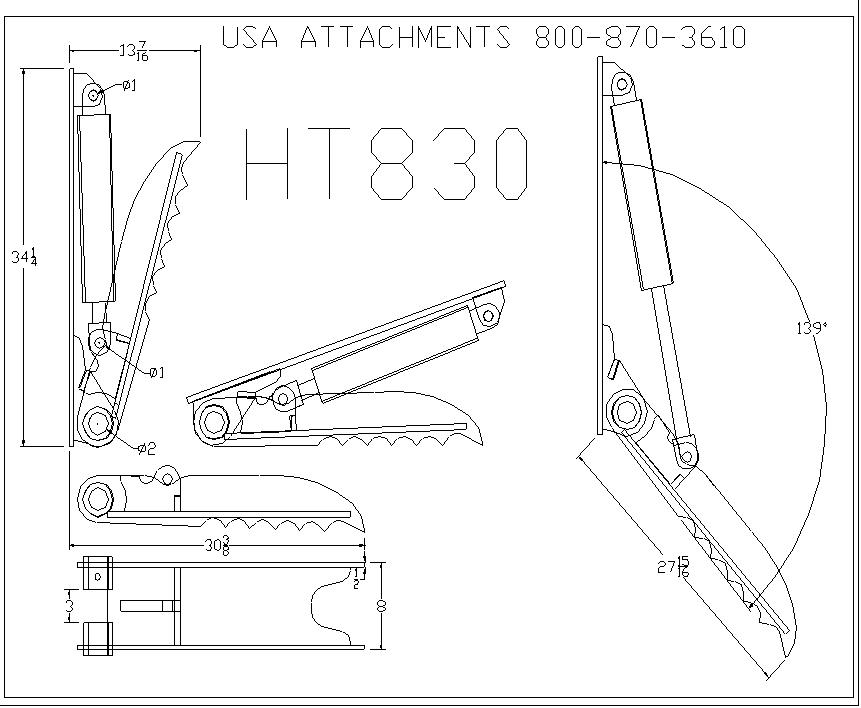 HT830 line drawing