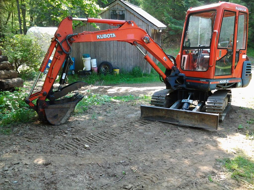 Ht830 hydraulic excavator thumb on kubota kx91 2 photo 1