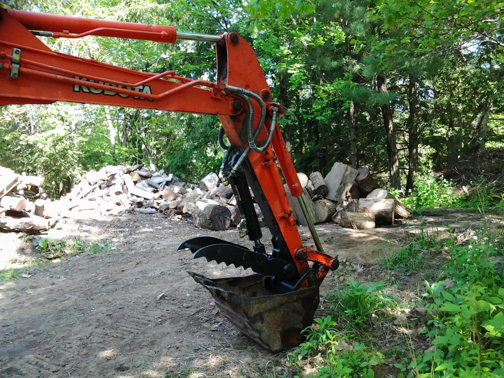 Ht830 hydraulic excavator thumb on kubota kx91 2 photo 2