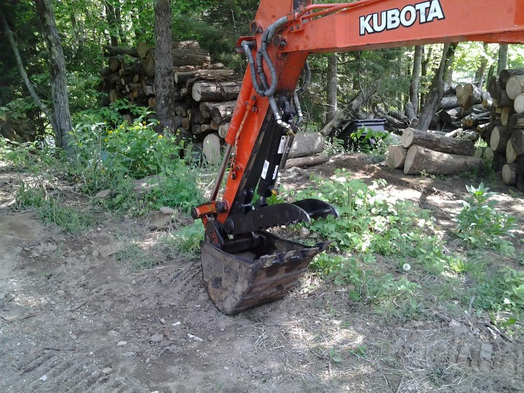 Ht830 hydraulic excavator thumb on kubota kx91 2 photo 4