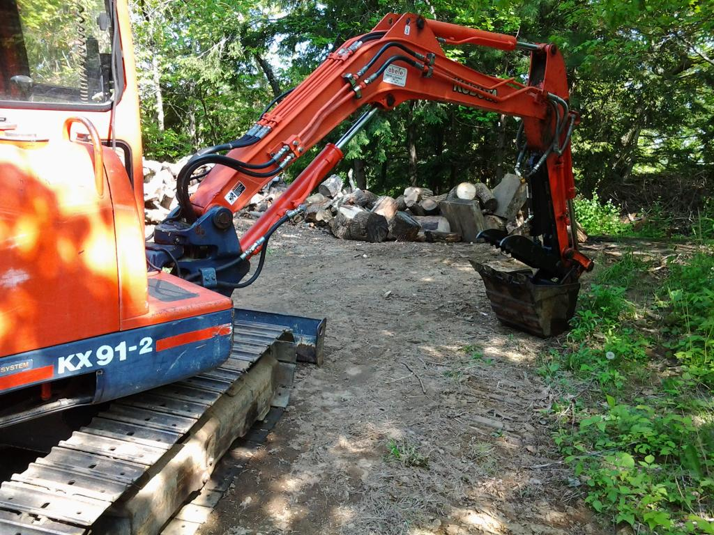 Ht830 hydraulic excavator thumb on kubota kx91 2 photo 5