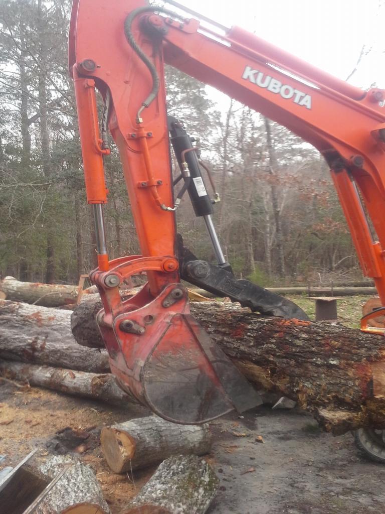 Ht830 hyraulic excavator thumb on kubota kx71 1