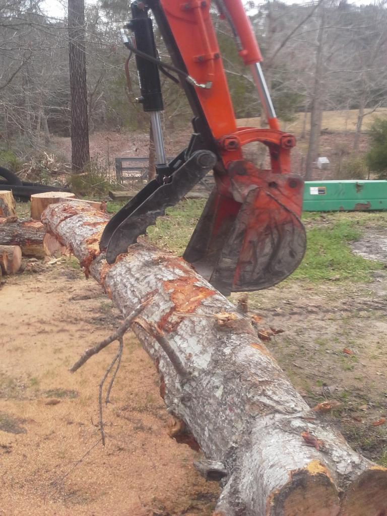 Ht830 hyraulic excavator thumb on kubota kx71 2