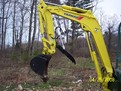 Yanmar VIO 35 mini excavator with 8\&quot; x 30\&quot; hydraulic mini excavator thumb by USA Attachments