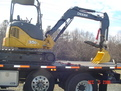 "Hydraulic 8"" x 30\"" mini excavator thumb installed on a Deere 35D mini excavator"