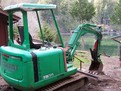 Hydraulic mini thumb installed on takeuchi TB025 mini excavator.