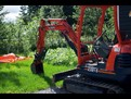 KUBOTA KX61-2 with USA Attachments Hyraulic mini excavator thumb