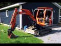 KUBOTA KX61-2 with USA Attachments mini hydraulic thumb