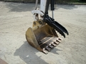 Side profile of the HT830 mini excavator thumb