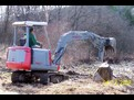 TAKEUCHI TB025 with HT830 hydraulic mini excavator thumb