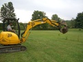 ht830 excavator thumb installed on jcb excavator