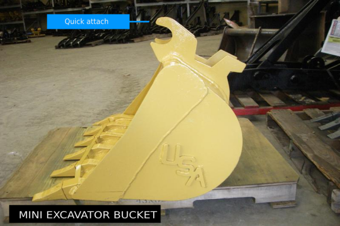 Quick Attach Mini Excavator Bucket