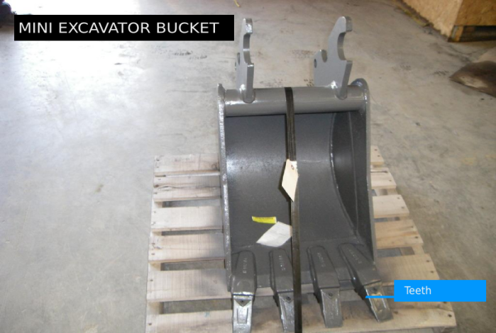 Mini Excavator Bucket With Teeth