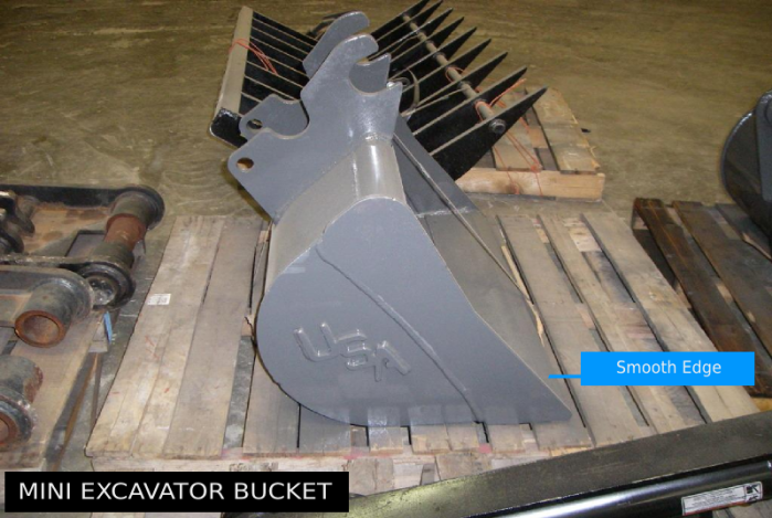 Smooth Edge Mini Excavator Bucket