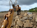 MT1035 excavator thumb, installed on a CASE excavator, moving stone