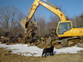 Hyundai 180 excavator with MT1850 excavator thumb