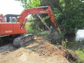 Hitachi EX120 excavator with mt1850 excavator thumb