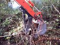 Kubota KH-41 mini excavator hard at work with it's new mini excavator thumb