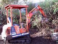 mt618 mini excavator thumb installed on a kubota kh-41 mini excavator
