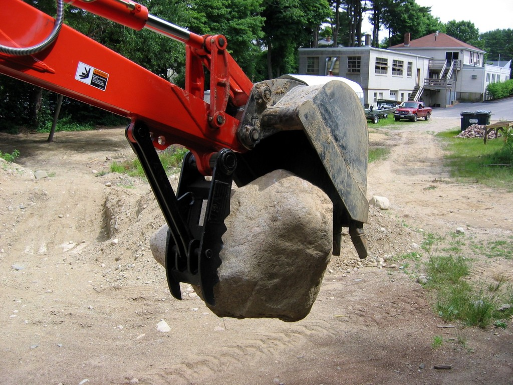 MT824 mini excavator thumb by USA Attachments