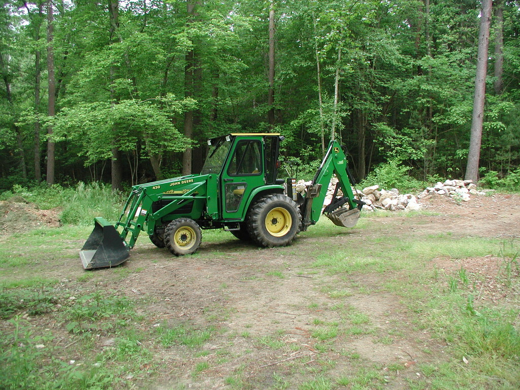 deere 430 mini backhoe farm tractor with 8