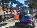 """kubota mini excavator with mt830, 8""""x30"""" mini excavator thumb"""