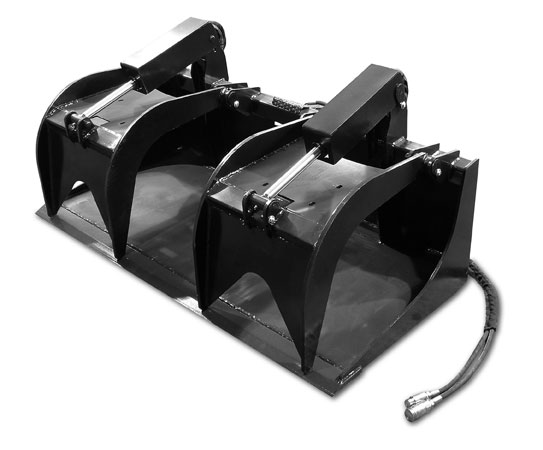 Skid steer heavy duty grapple bucket 1