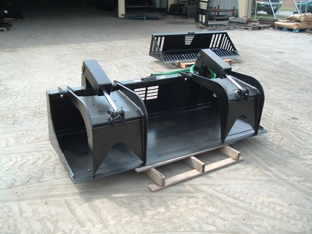 Skid steer heavy duty grapple bucket 2