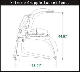 Skid steer xtreme duty grapple bucket 4